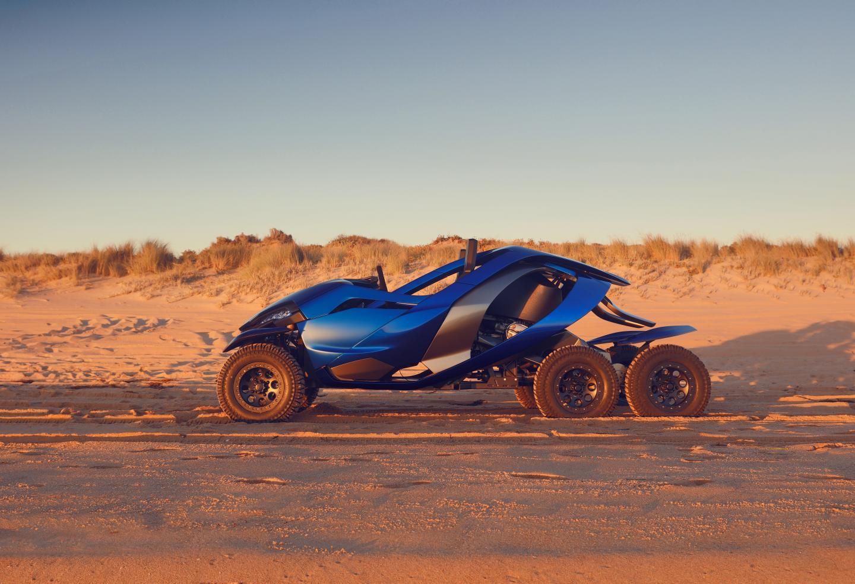 L'Azaris de Ferox, un bolide conçu pour rouler sur Mars.