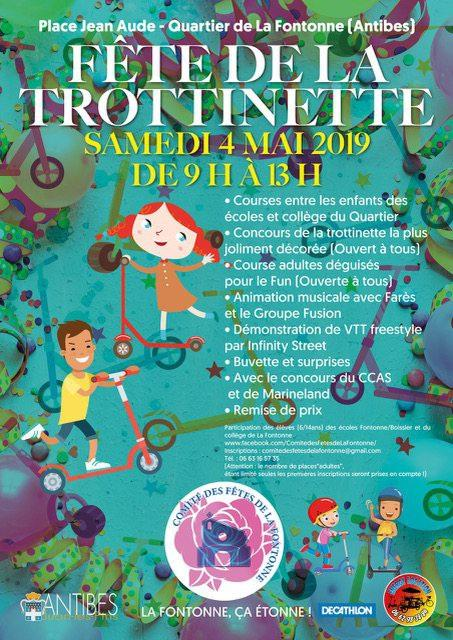 La pétillante affiche du comité des fêtes de la Fontonne.DR