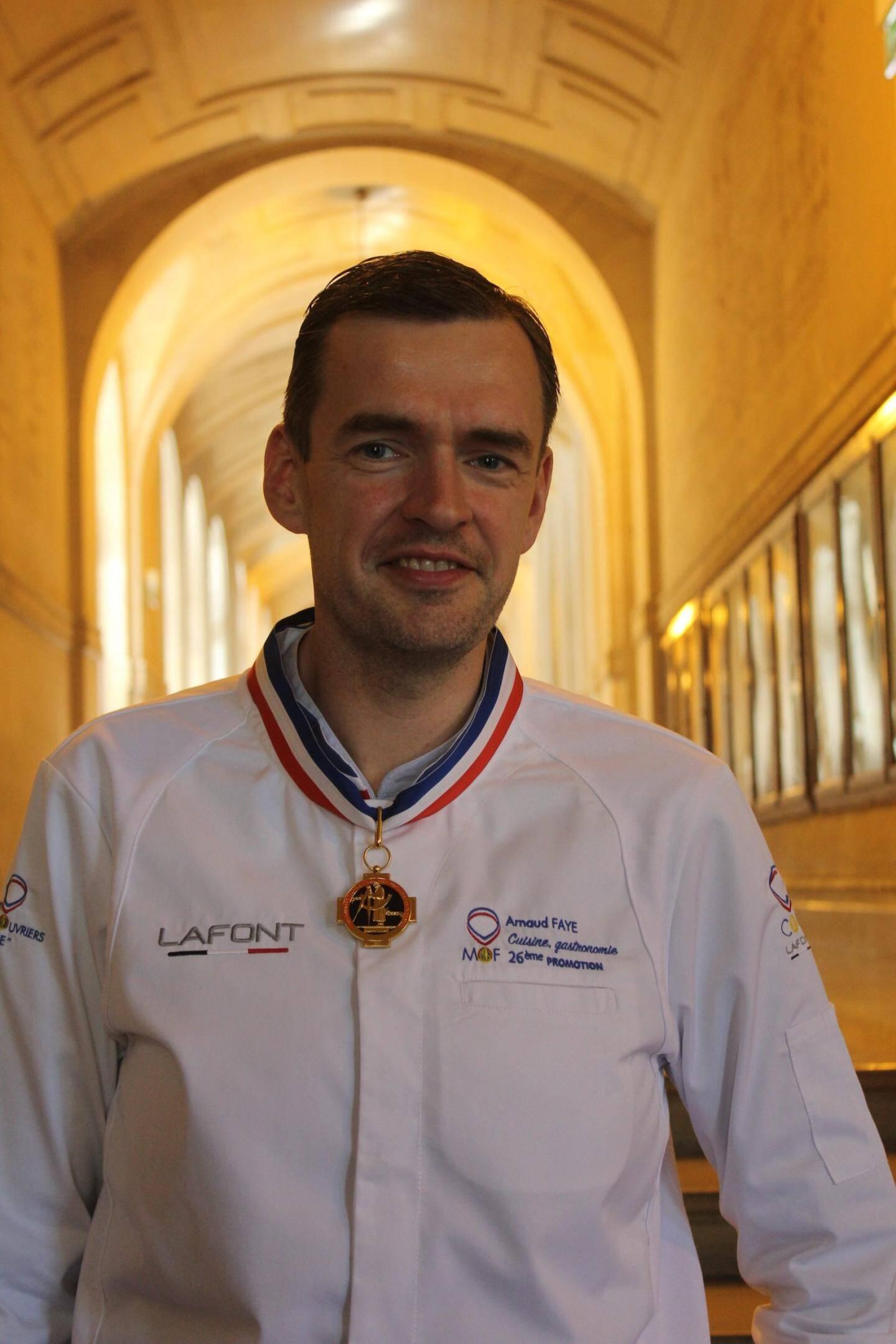 Arnaud Faye, chef des cuisines à la Chèvre d'or d'Eze, Mof cuisine.
