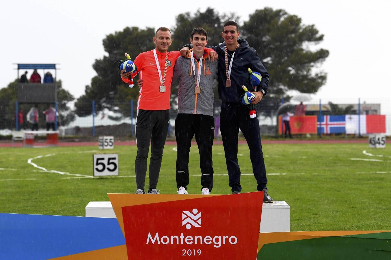 L'argent pour Gabriel Dulière (athlétisme, 800m).