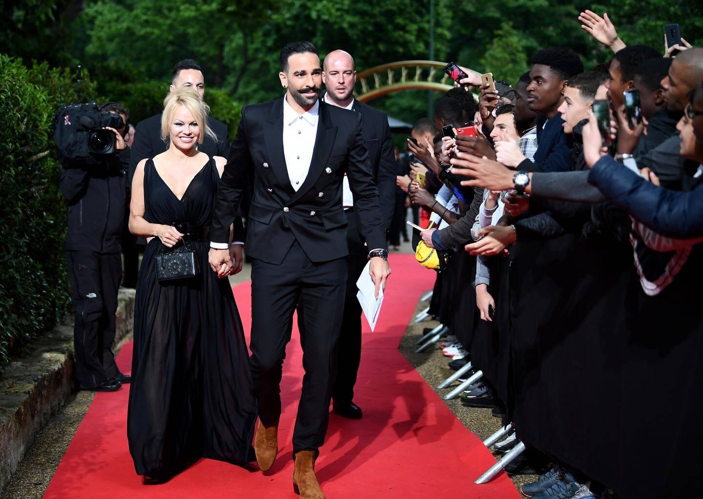 Pamela Anderson et Adil Rami.