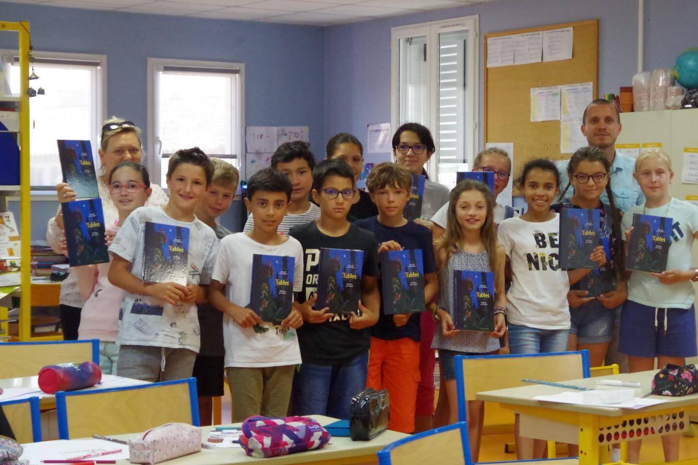 La classe de CM2 de Monsieur Bastie.