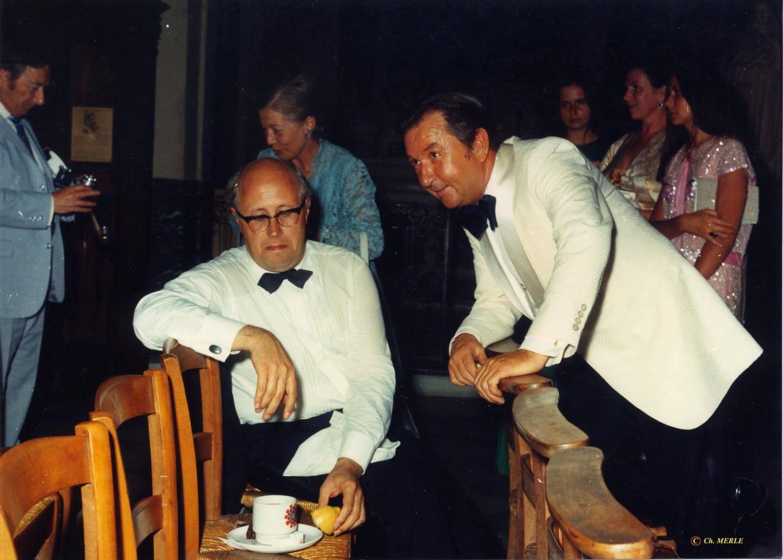 André Böröcz et Mstislav Rostropovitch.