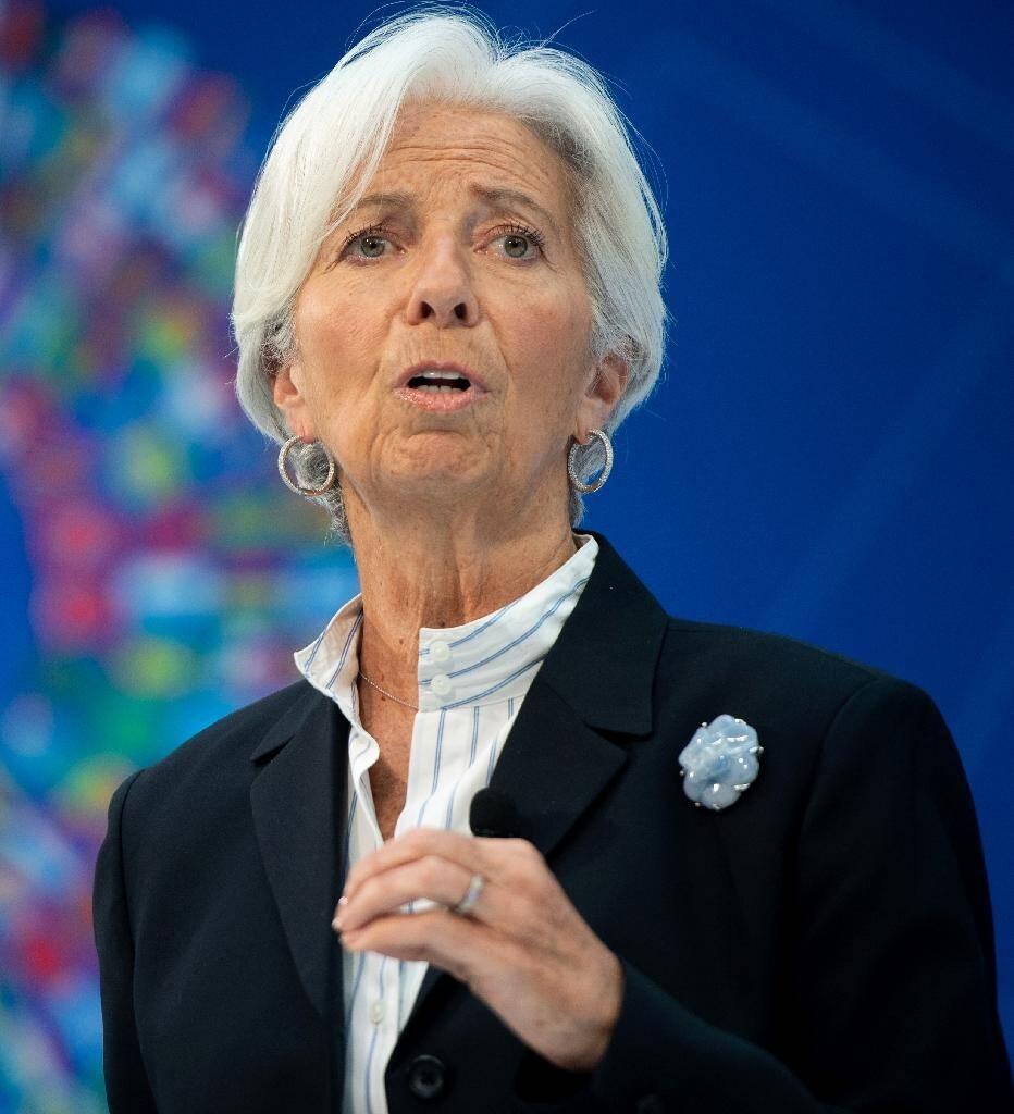 """Christine Lagarde, ministre de l'Economie de Nicolas Sarkozy et future présidente de la Banque centrale européenne (BCE), avait été condamnée fin 2016 pour """"négligence"""" dans l'affaire Tapie, photo prise à Washington, le 10 avril 2019"""