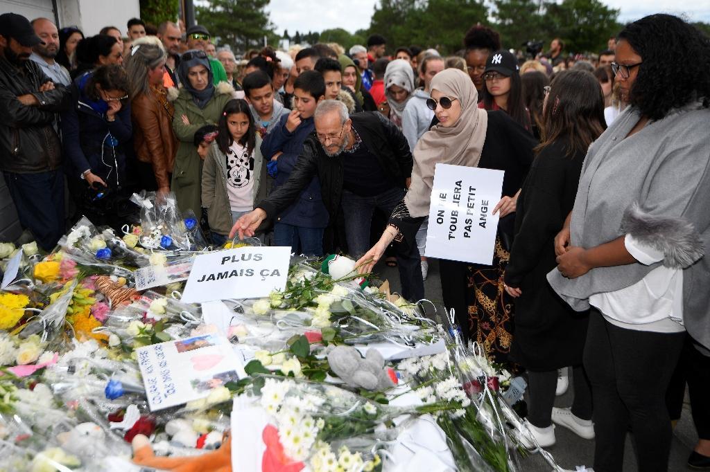 Rassemblement sur les lieux de l'accident, le 11 juin 2019 à Lorient