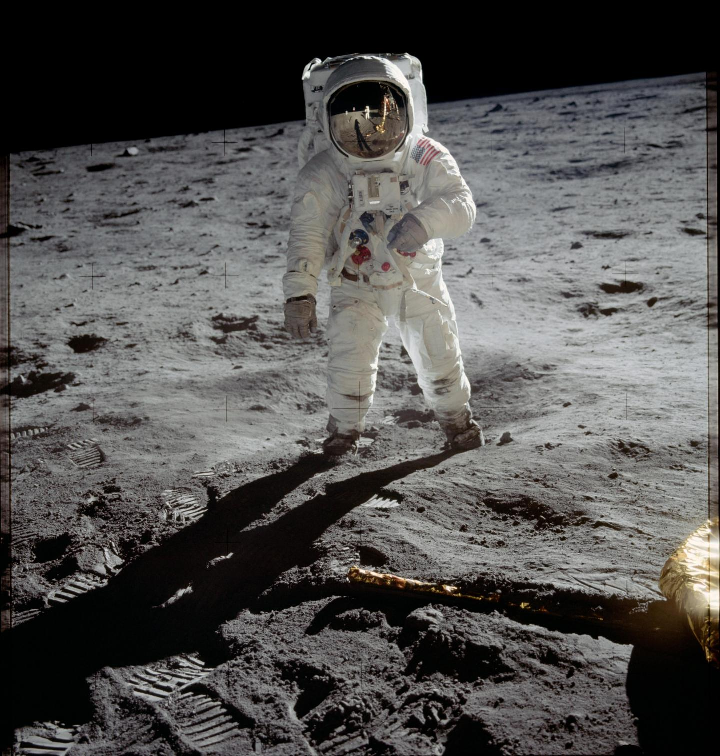Buzz Aldrin est le deuxième homme à poser le pied sur la Lune ! Il est, ici, photographié par Neil Armstrong.