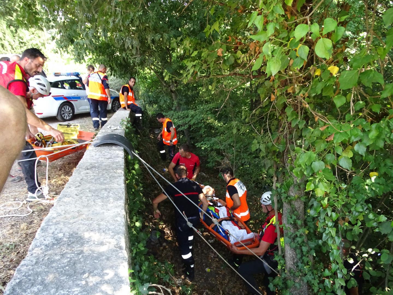 La victime a pu compter sur l'intervention rapide des secours.