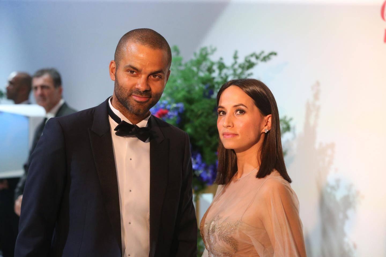 Tony Parker et son épouse.
