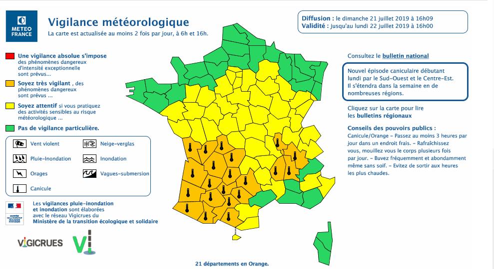 Les Alpes-Maritimes relativement protégées par rapport aux départements du Sud-ouest de la France.