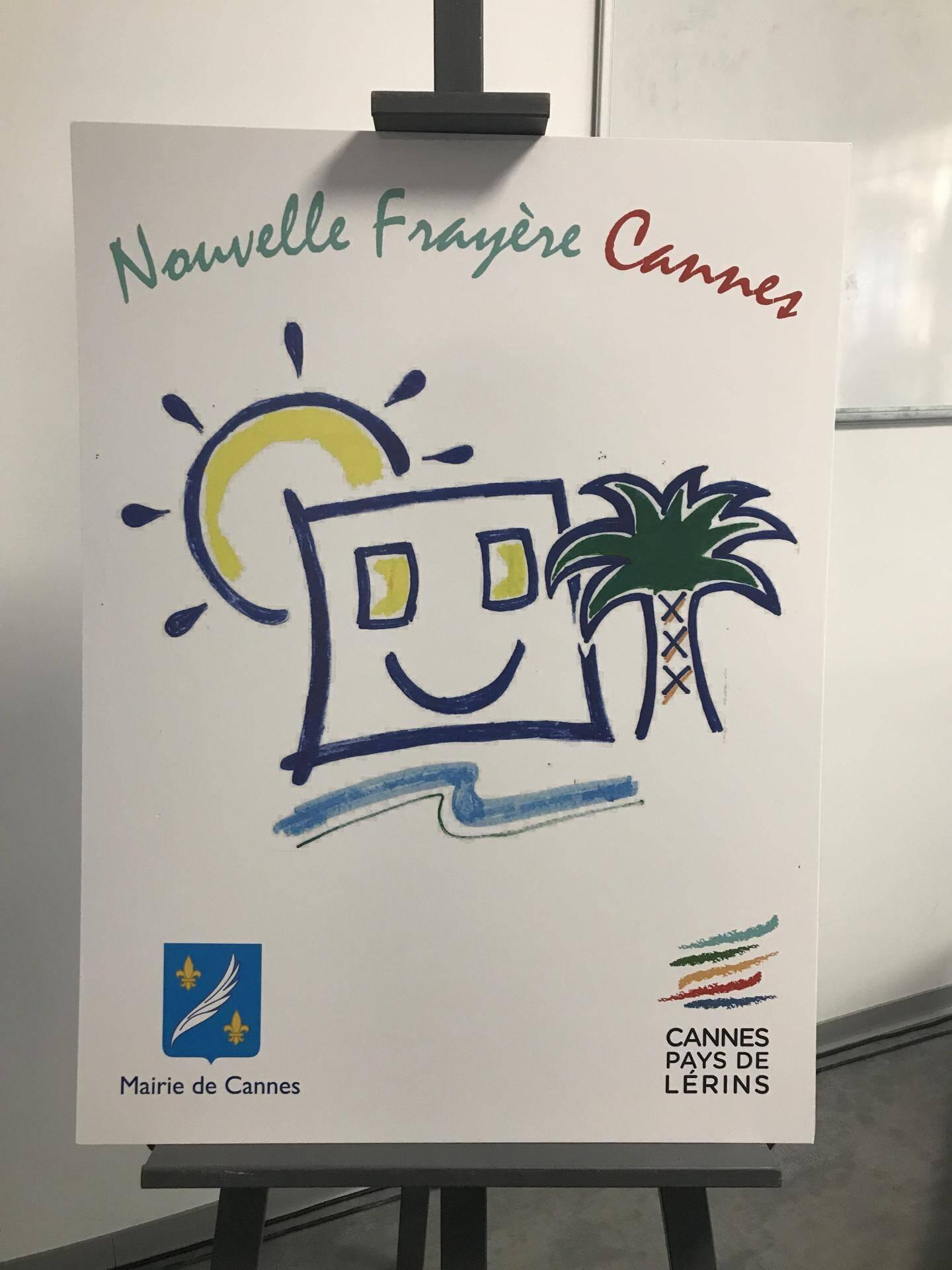 Les enfants du quartier ont créé le logo Nouvelle Frayère Cannes.