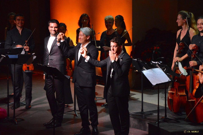 Carlo Vistoli, Justin Kim et Jake Arditti.