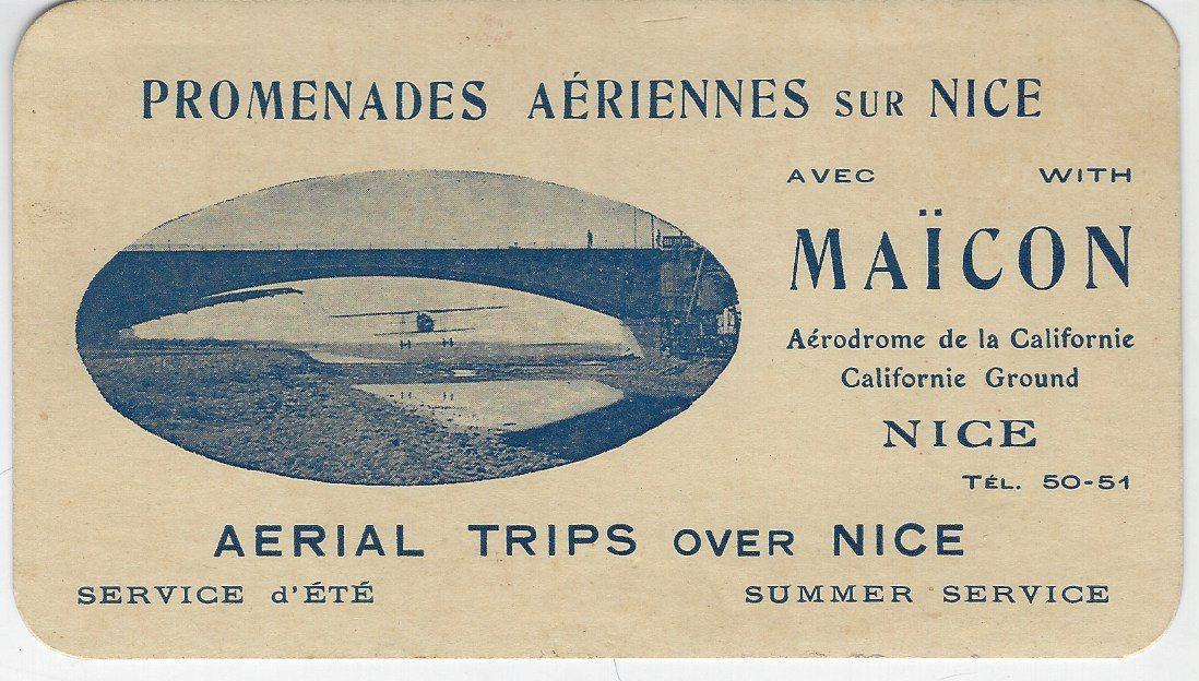 Maïcon passe sous le pont du Var le 24 août 1919.
