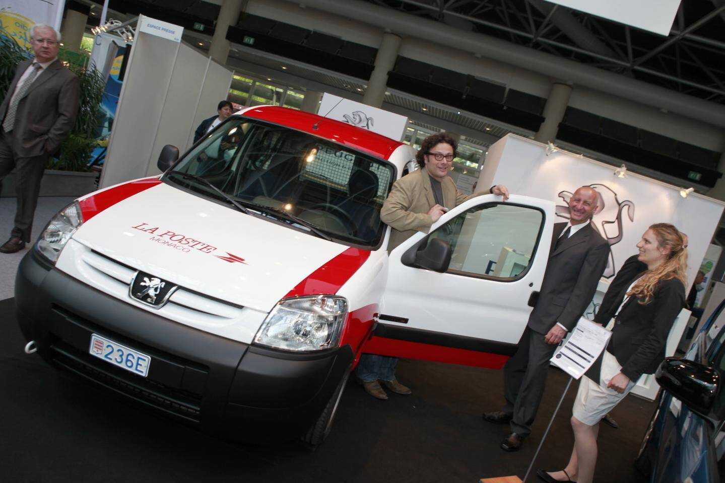 Le Peugeot Partner électrifié par Venturi, ici au salon Ever de 2011