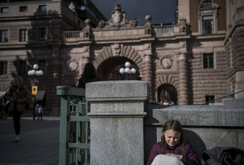 Greta a commencé à manifester seule devant le Parlement de Suède à l'été 2018. Depuis elle mène des cortèges dans le monde.