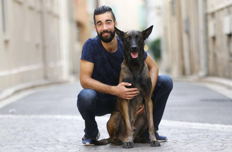Benjamin Cressend, champion de cani-cross antibois.