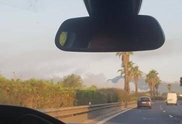 L'Incendie a été repéré par de nombreux internautes.