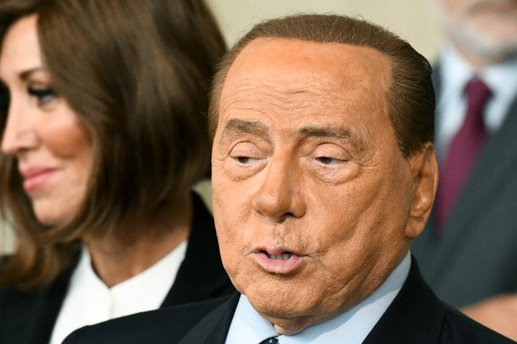 L'ex-chef du gouvernement italien Silvio Berlusconi, patron de Forza Italia, le 22 août 2019 à Rome après une rencontre avec le président Sergio Mattarella