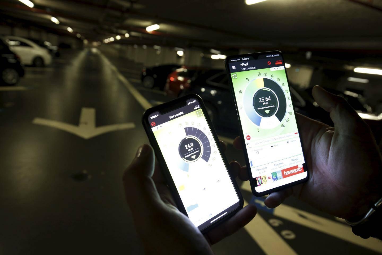 Au deuxième sous-sol d'un parking, les performances sont équivalentes à la 4G d'Orange.