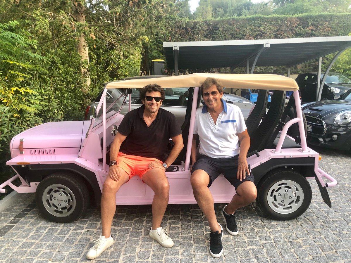 Patrick Bruel et Max Guazzini grand amateurs de sport.