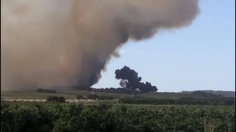 La photo du crash de ce Tracker 22 à Génèrac