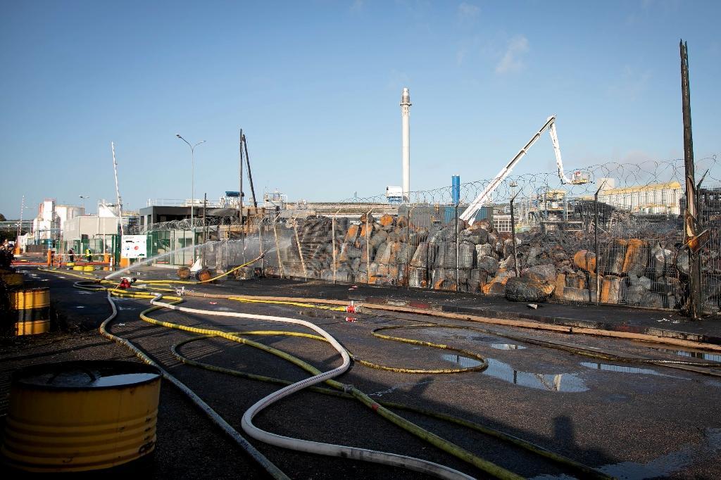 L'usine Lubrizol à Rouen le 27 septembre 2019, au lendemain de l'incendie qui l'a frappé