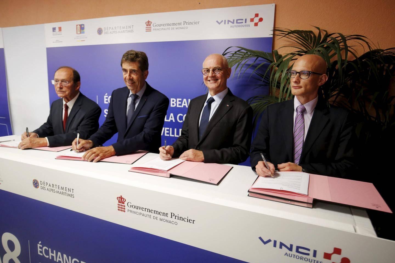 L'État français et son concessionnaire Vinci Autoroutes, l'État monégasque, le Département des Alpes-Maritimes et la Carf sont les quatre financeurs de ce dossier.