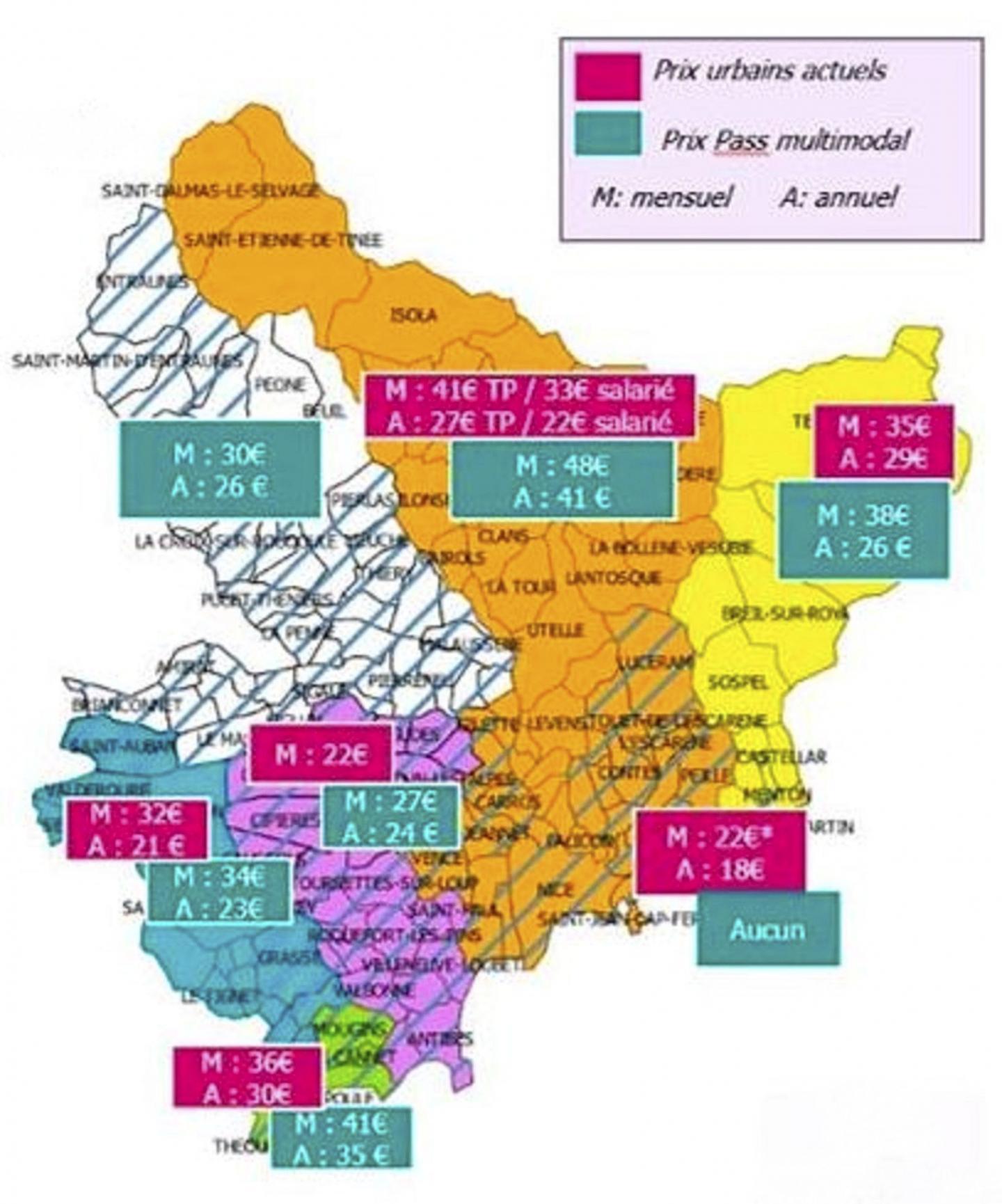 Le département est découpé en sept zones.(Document Région Sud-Paca)