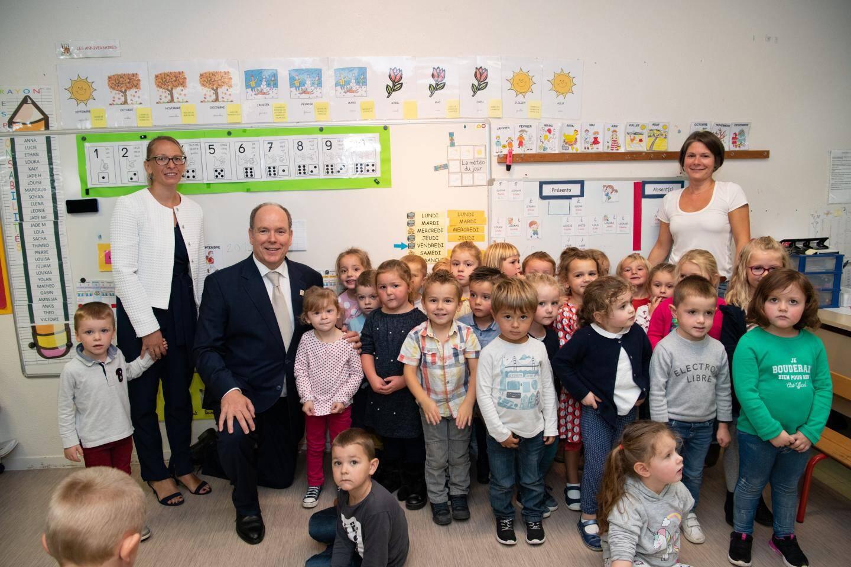 À l'école Grace de Monaco.