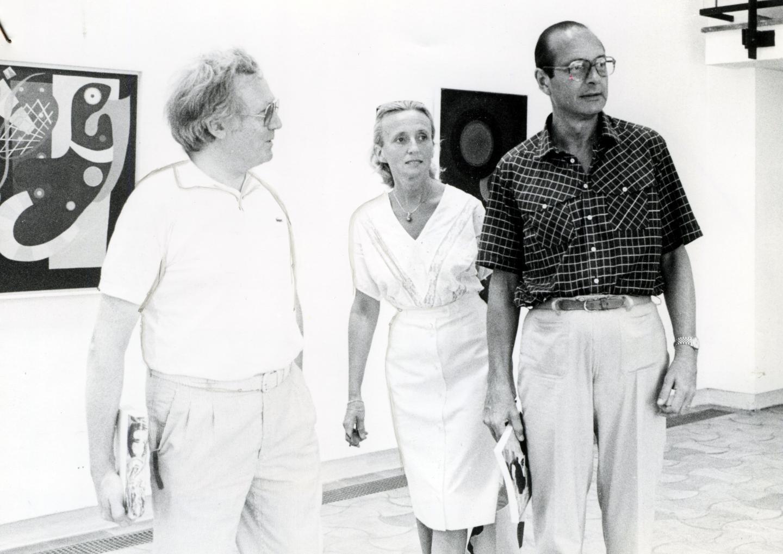 Bernadette et Jacques Chirac en visite à la fondation Maeght en 1983.