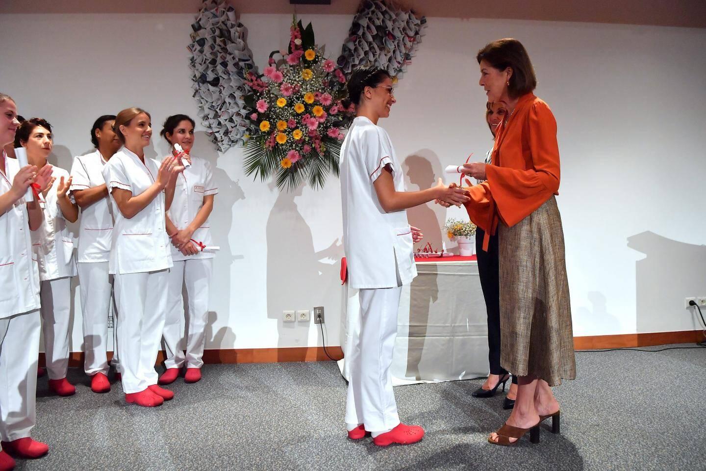 La princesse Caroline est venue remettre les diplômes aux jeunes infirmiers et aides-soignants.