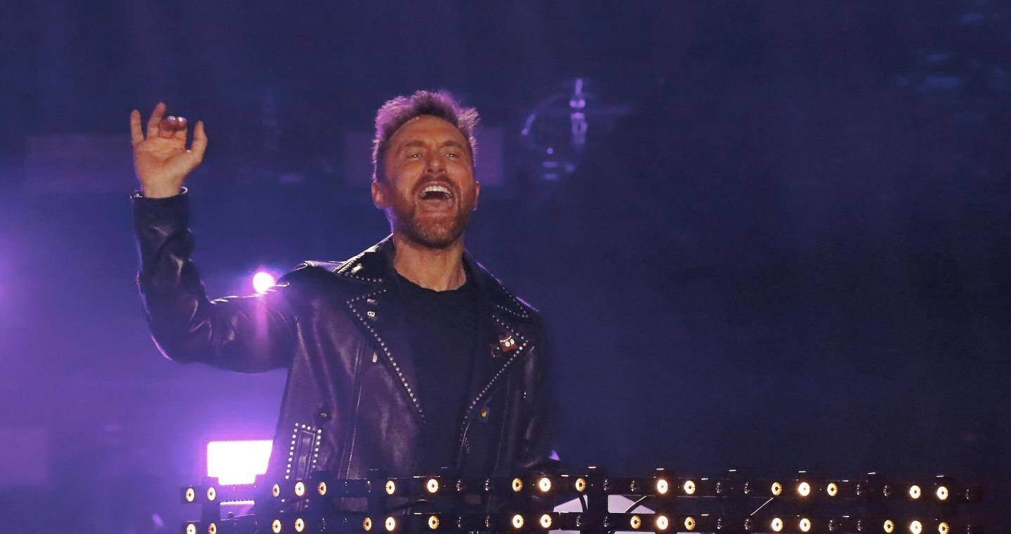 David Guetta aux NRJ Music Awards en 2018 à Cannes.