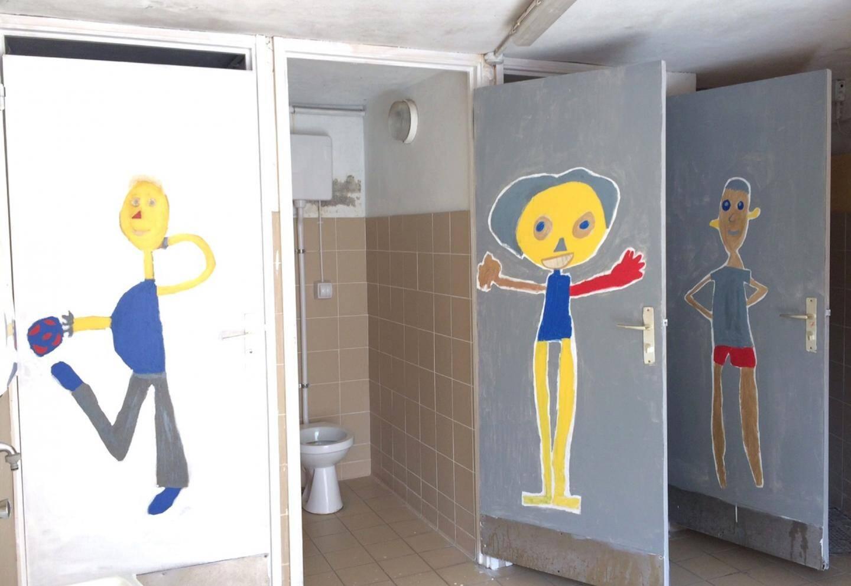 Le nouveau look des toilettes des garçons.(DR)