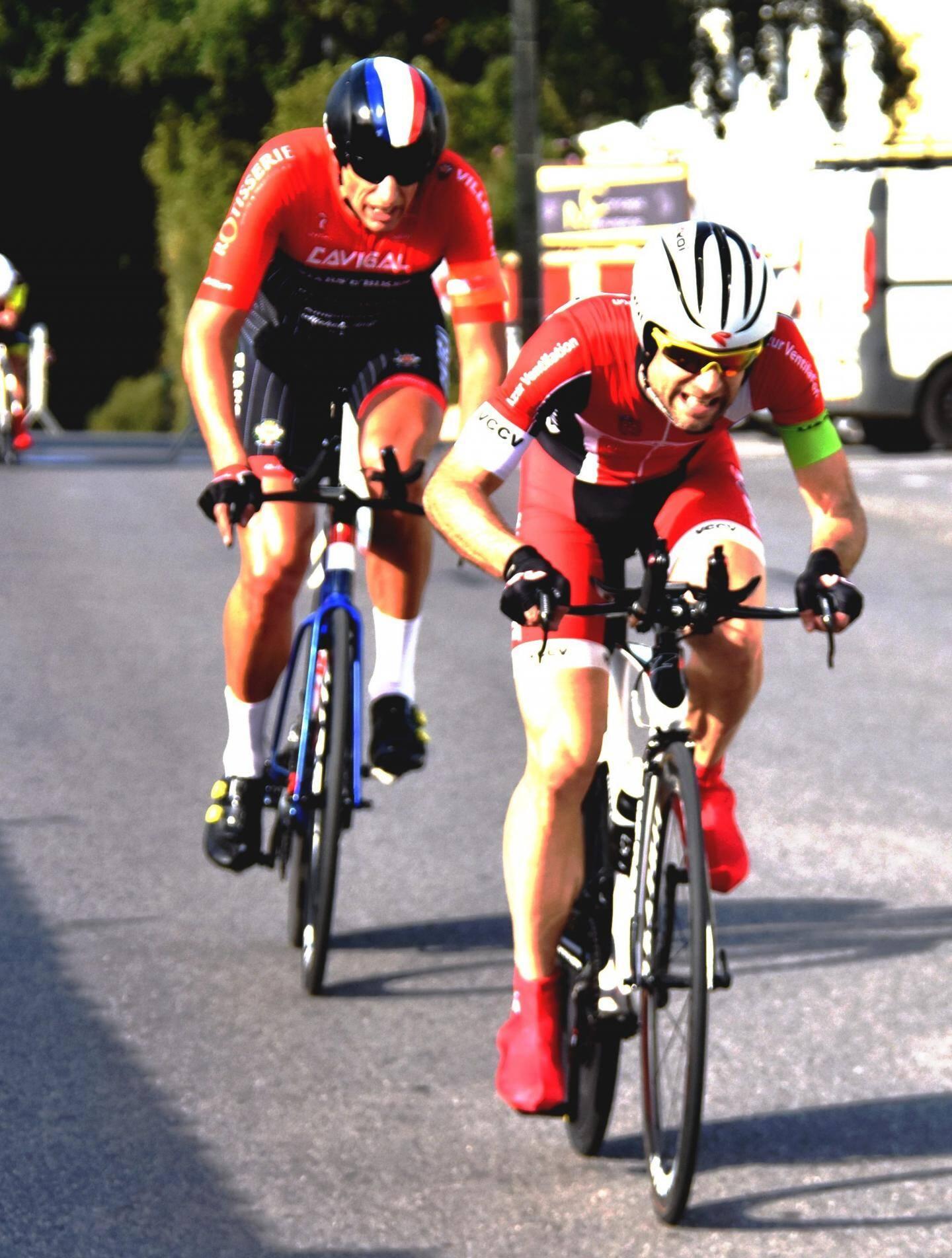 L'équipe Rémy Baucher et Fabrice Lajara (en 2e position).
