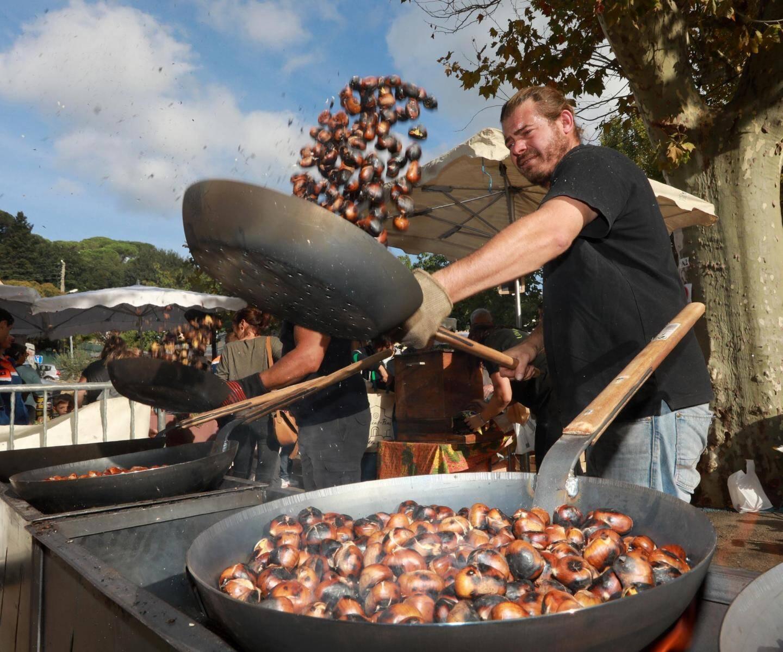 Plusieurs dizaines de kilos de châtaigne ont grillé et sauté en ce premier dimanche de fête.
