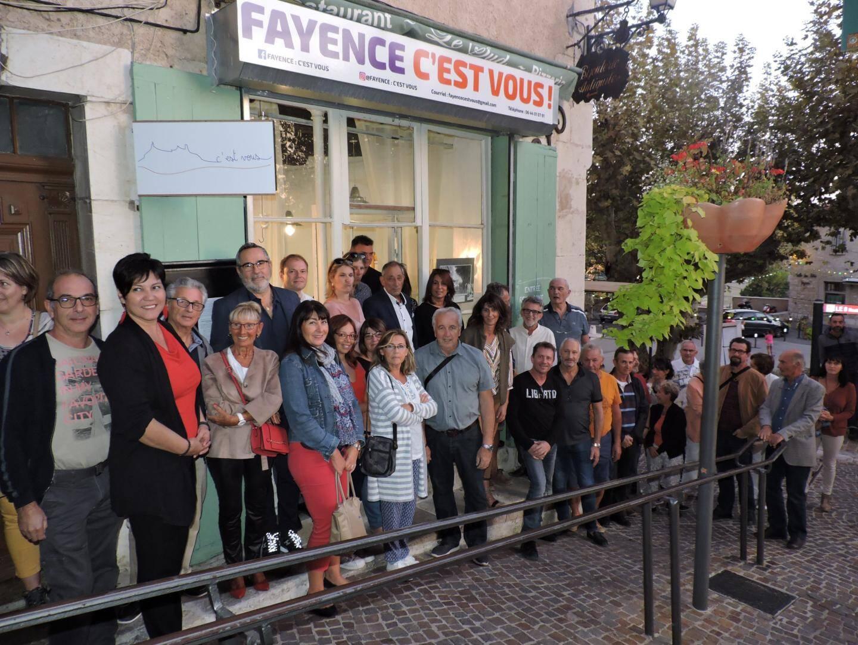 Le candidat a inauguré sa permanence rue Laroute.