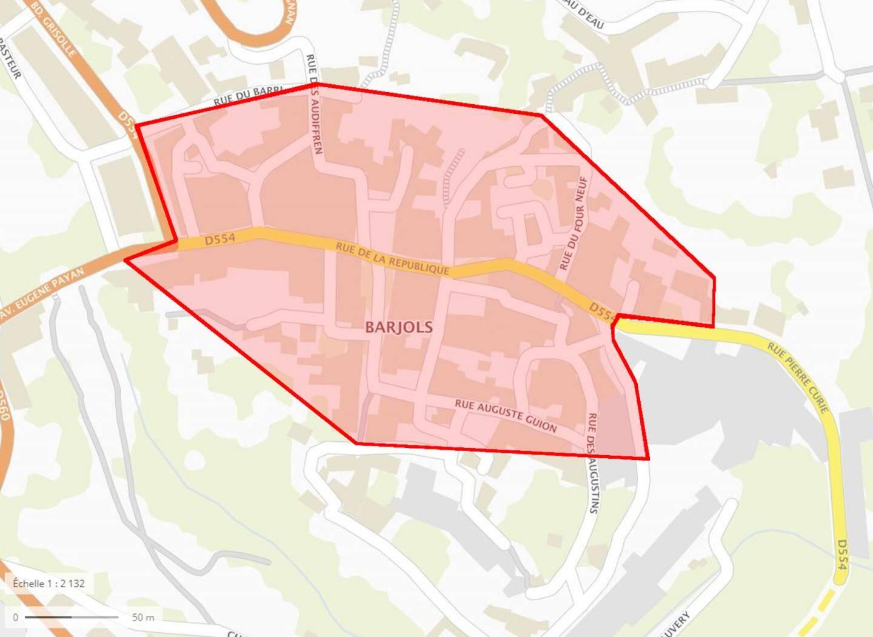 Toutes les habitations se trouvant dans le centre-ville sont concernées. La liste des rues précise peut être consultée sur www.barjols.fr