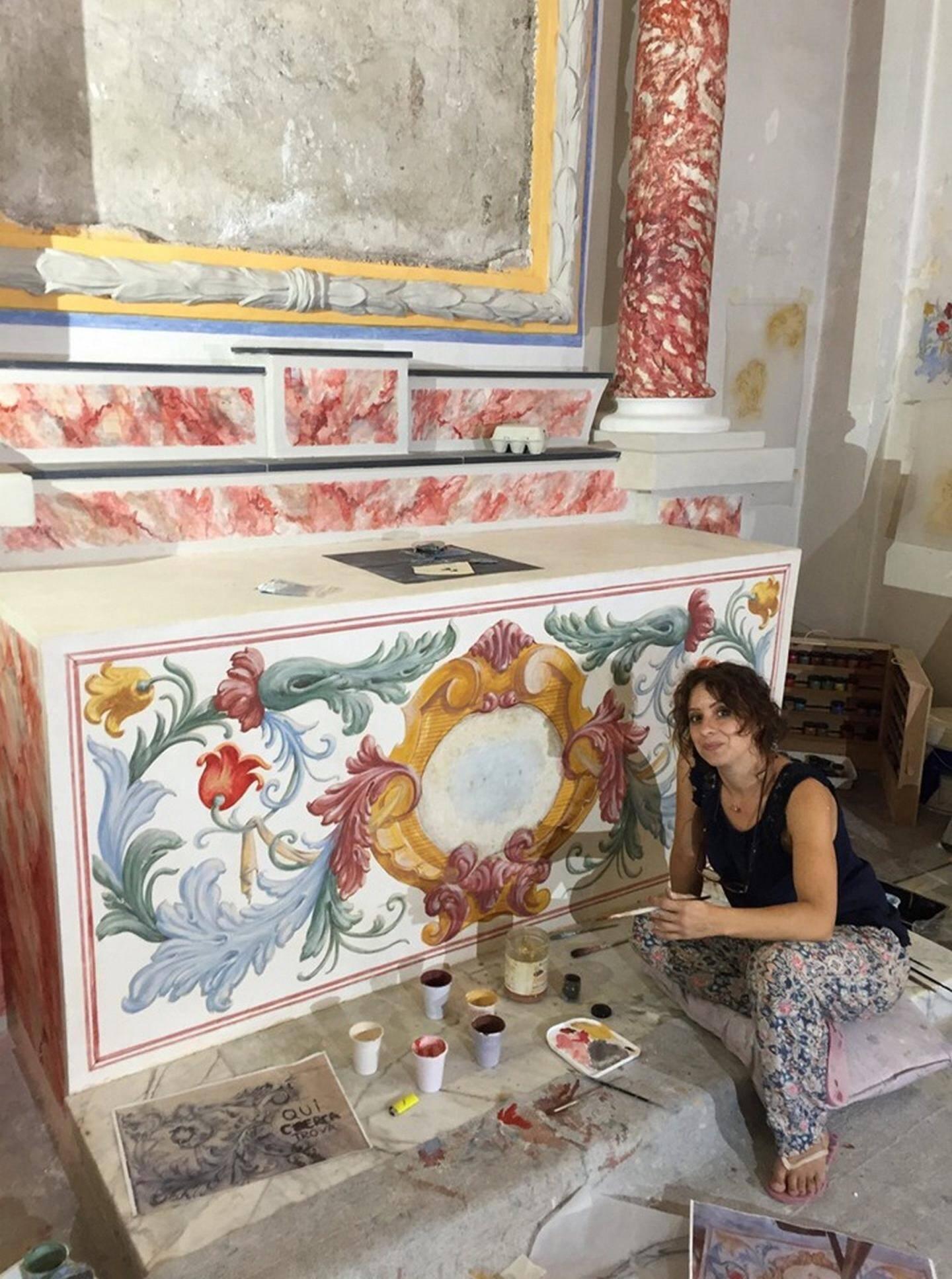 C'est la restauratrice Mia Articuci qui a réalisé cette restauration. (DR)
