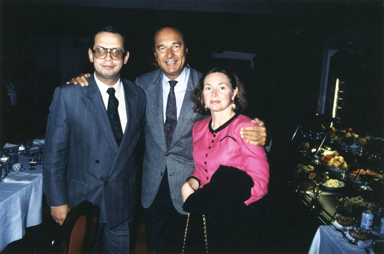 Vladimir avec son ami Jacques Chirac en Russie en août 1991.(DR)