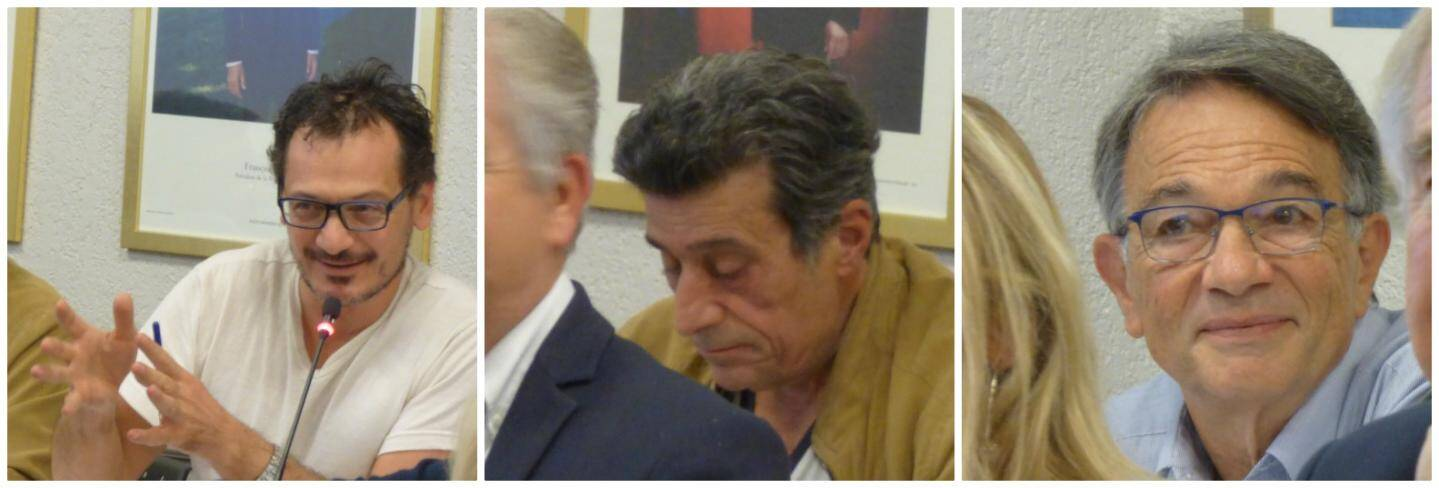 Cédric Garoyan, Jean-Antoine Burroni et Michel Ghertman.
