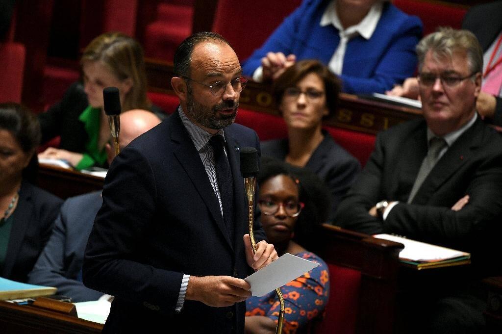 Le Premier ministre Edouard Philippe lors de la séance des questions au gouvernement à l'Assemblée.