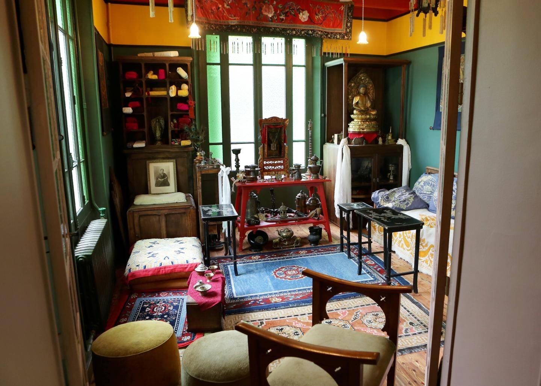 Le salon tibétain d'Alexandra David-Néel.