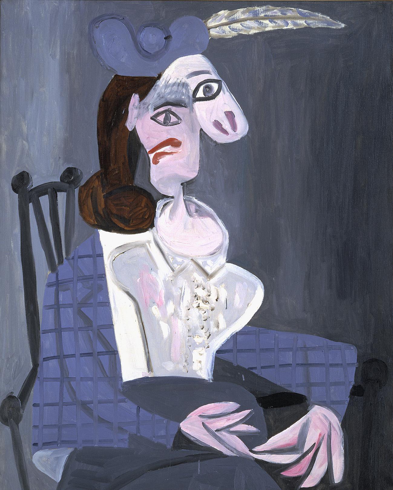 Pablo Picasso, Femme dans un fauteuil, Dora Maar. 1941. Huile sur toile 100×81 cm.