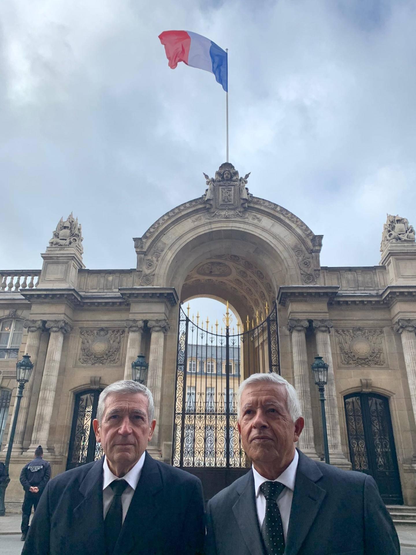 Mathieu et Louis Paoli, co fondateurs de l'association étaient accompagnés de ses avocats.