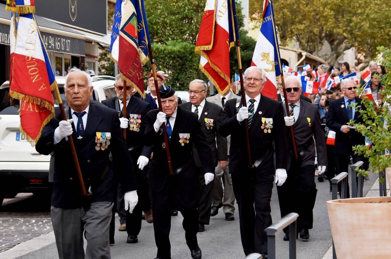 Le défilé dans l'avenue Maréchal-Foch.