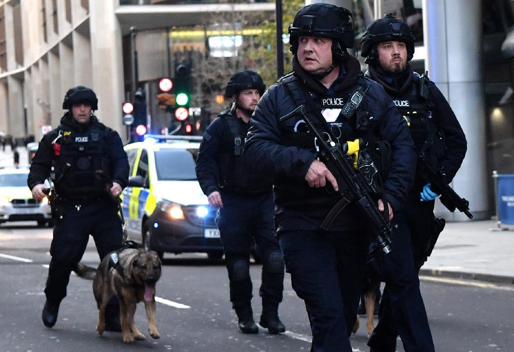Patrouille de policiers à Londres, le 29 novembre 2019