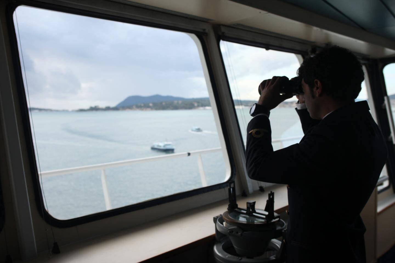 """Le dispositif, qui équipe notamment le Mega Express Four de la Corsica Ferries, repose sur """"la veille humaine""""."""