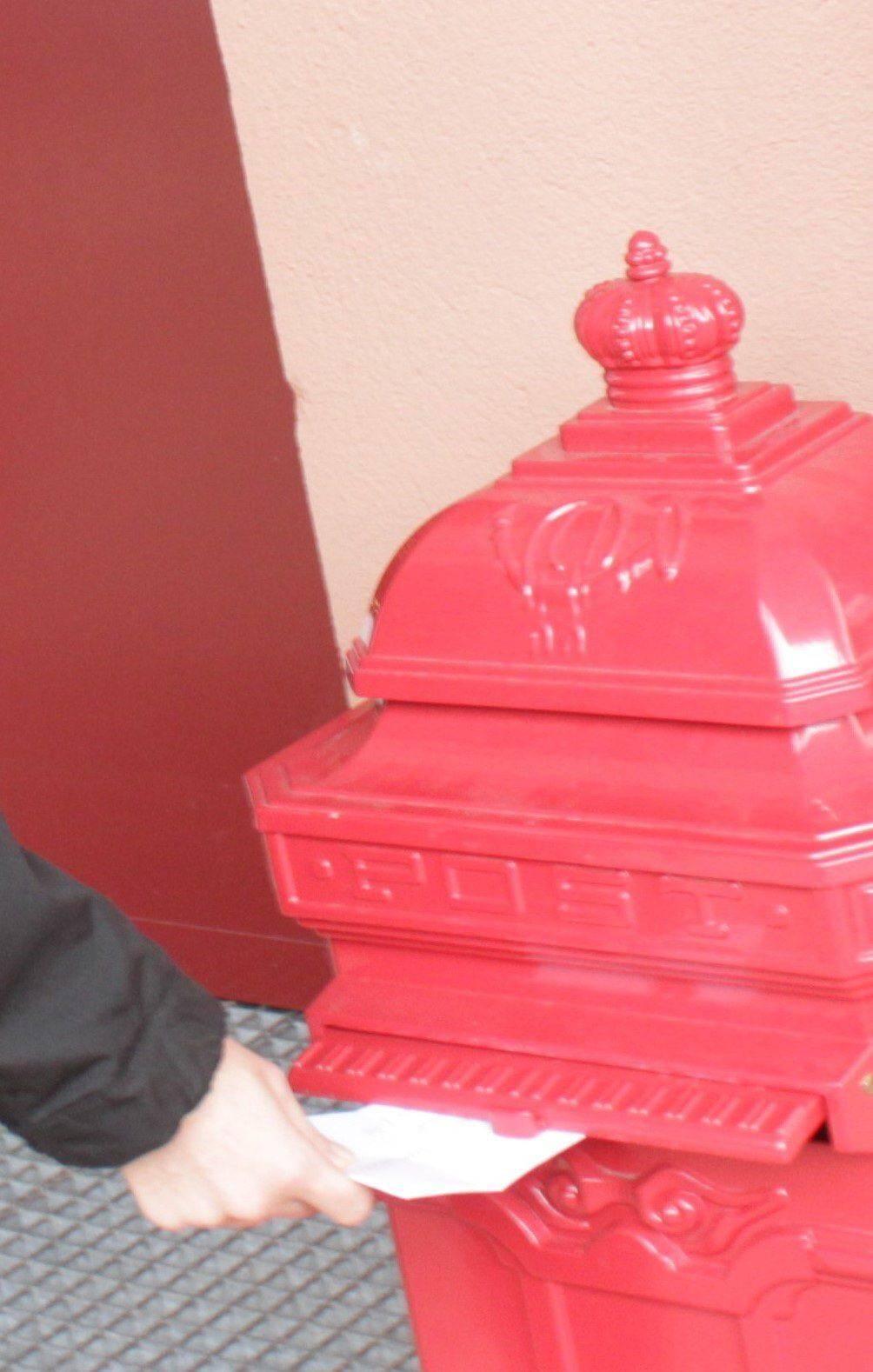 La boite à lettres du Père Noël située à l'entrée du centre culturel.