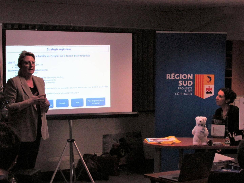 Nathalie Bernard et Laure Verger ont également évoqué tous les  dispositifs d'aide de la Région, lesquels englobent toutes les catégories d'entreprises.