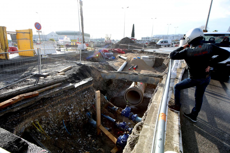 Des travaux de réseaux sont en cours à proximité du terminal 2. Un panneau (ici le 10 décembre, désormais enlevé) a semé le trouble et provoqué une saisine du procureur de la République.