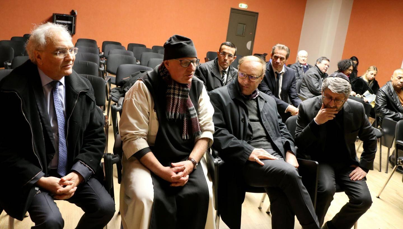 Daniel Bensoussan, le frère Marie Pâques, Ghaleb Bencheick et Haïm Korsia.
